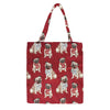 MECO-PUG | PUG DOG MEDIUM ECO REUSABLE GROCERY TOTE BAG - www.signareusa.com