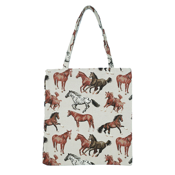 MECO-RHOR | RUNNING HORSE MEDIUM ECO REUSABLE GROCERY TOTE BAG - www.signareusa.com