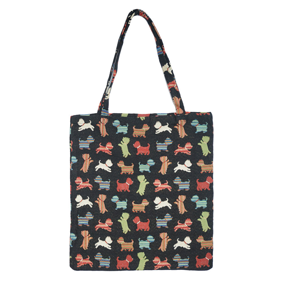 MECO-SCOT | SCOTTIE DOG MEDIUM ECO REUSABLE GROCERY TOTE BAG - www.signareusa.com