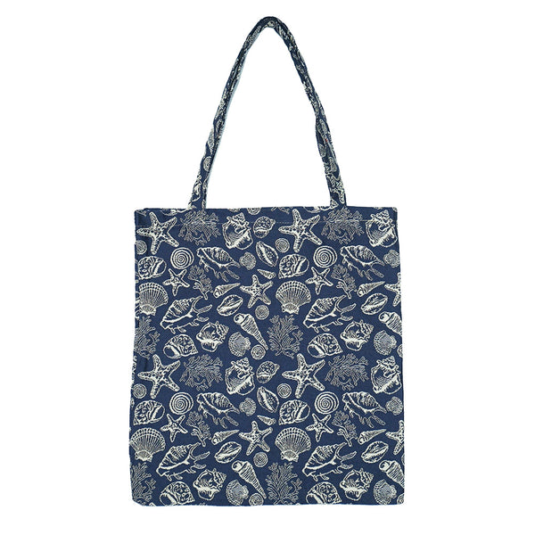 MECO-SHELL | SEA SHELL MEDIUM ECO REUSABLE GROCERY TOTE BAG - www.signareusa.com