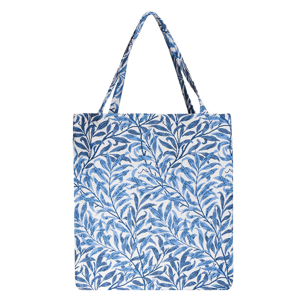 MECO-WIOW | WILLIAM MORRIS WILLOW BOUGH MEDIUM ECO REUSABLE GROCERY TOTE BAG - www.signareusa.com