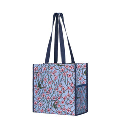 SHOP-BLOS | ALMOND BLOSSOM AND SWALLOW SHOPPER BAG - www.signareusa.com