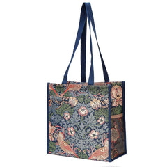 SHOP-STBL | WILLIAM MORRIS STRAWBERRY THIEF BLUE SHOPPER BAG - www.signareusa.com