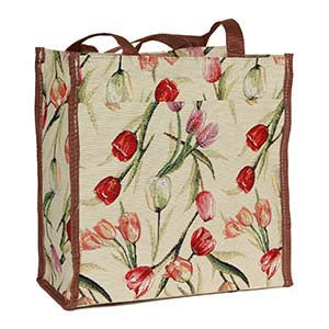 SHOP-TULWT | TULIP WHITE SHOPPER BAG - www.signareusa.com