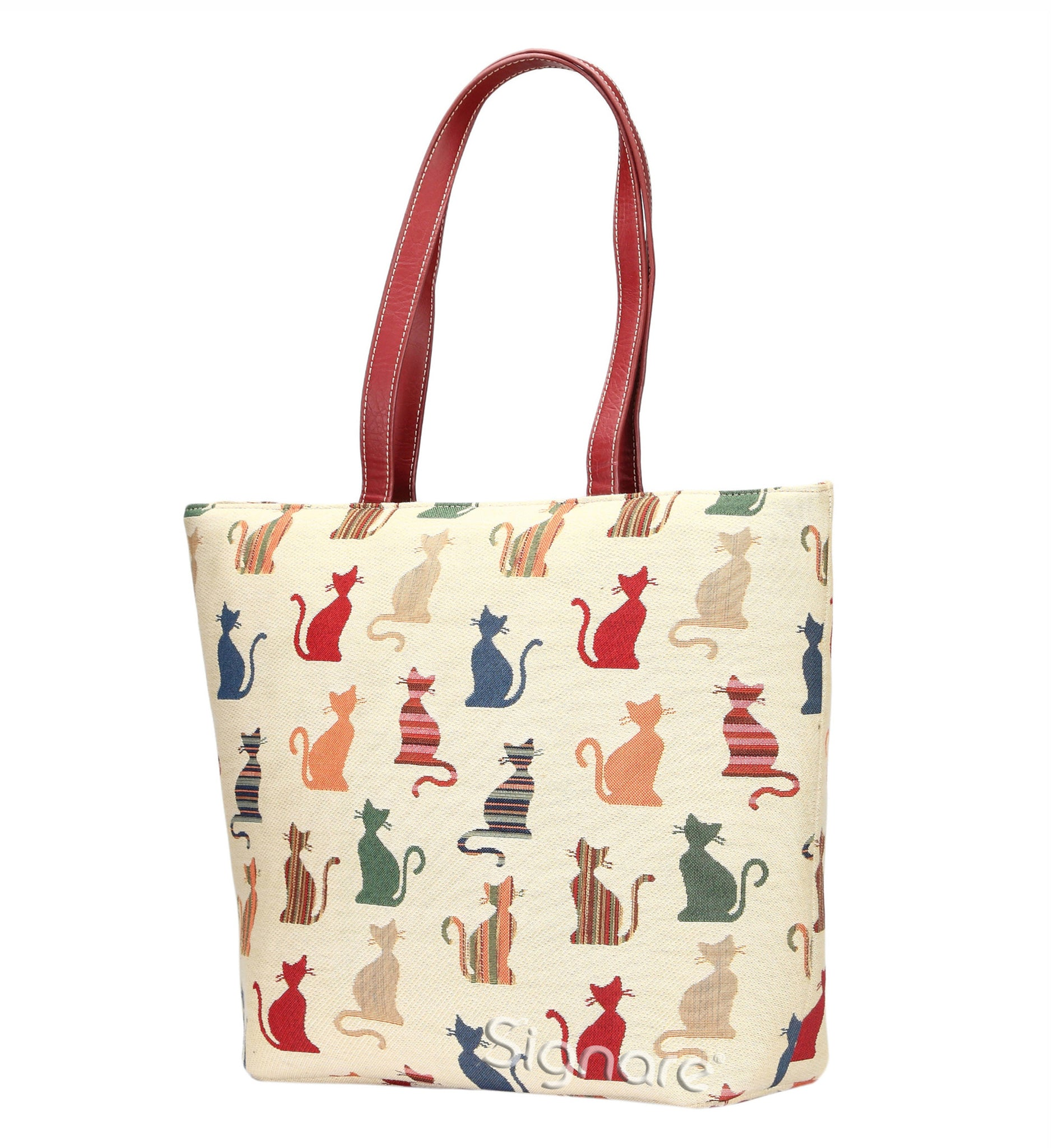 SHOU-CHEKY | CHEEKY CAT SHOULDER BAG TOTE HANDBAG - www.signareusa.com