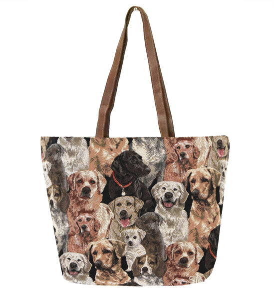 SHOU-LAB | LABRADOR DOG SHOULDER BAG TOTE HANDBAG - www.signareusa.com
