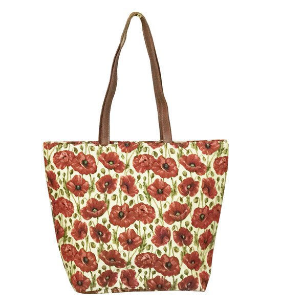 SHOU-POP-M| MEDIUM SIZE POPPY SHOULDER BAG TOTE HANDBAG - www.signareusa.com
