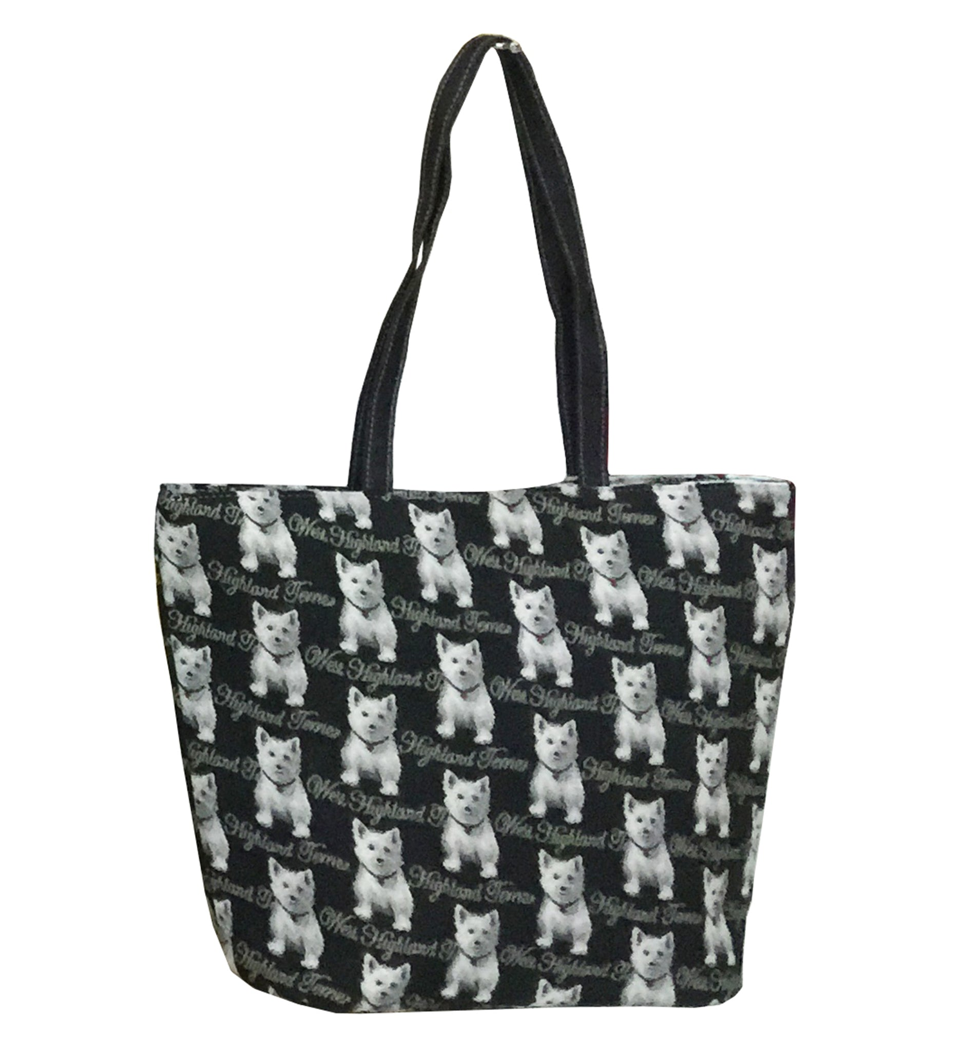 SHOU-WES | WESTIE DOG SHOULDER BAG TOTE HANDBAG - www.signareusa.com