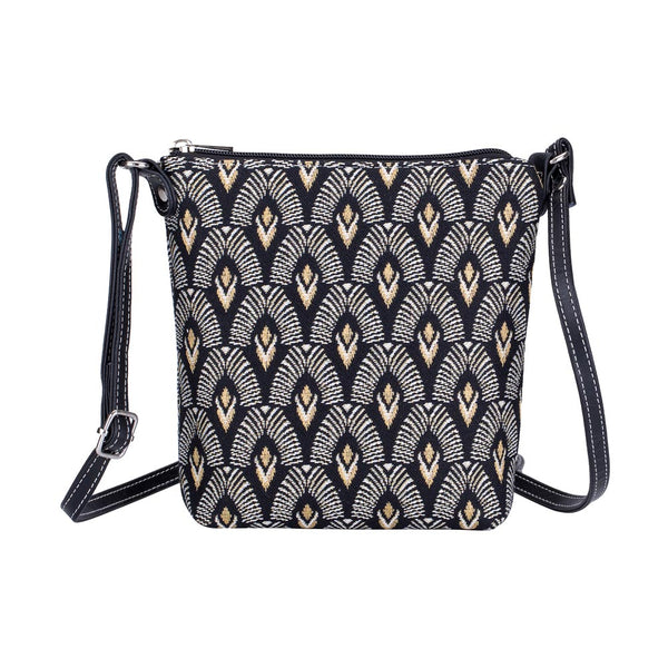SLING-LUXOR | BLACK AND WHITE LUXOR SLING BAG PURSE CROSSBODY - www.signareusa.com