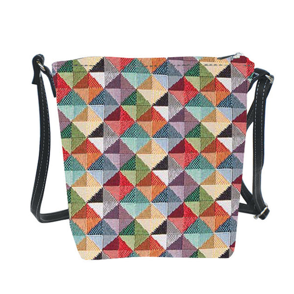 SLING-MTRI | MULTICOLOR TRIANGLE SLING BAG PURSE CROSSBODY - www.signareusa.com