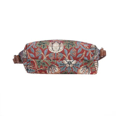 SLING-STRD | WILLIAM MORRIS STRAWBERRY THIEF RED SLING BAG PURSE CROSSBODY - www.signareusa.com