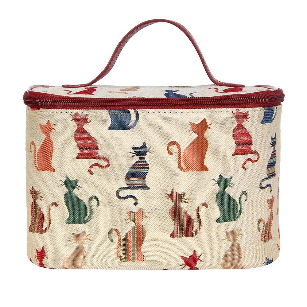 TOIL-CHEKY | CHEEKY CAT TOILETRY VANITY TRAVEL BAG - www.signareusa.com