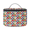 TOIL-MTRI | MULTICOLOR TRIANGLE TOILETRY VANITY TRAVEL BAG - www.signareusa.com