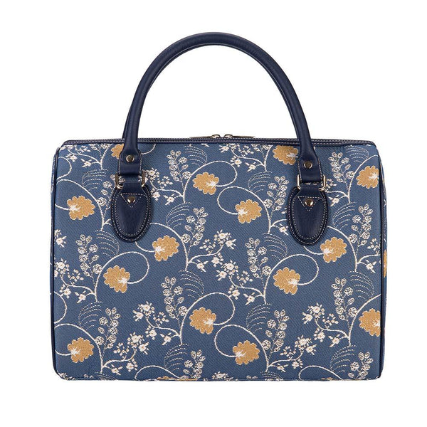 TRAV-AUST | JANE AUSTEN BLUE TRAVEL BAG WEEKEND GYM HOLDALL - www.signareusa.com