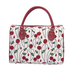 TRAV-RMSP | RENNIE MACKINTOSH SIMPLE ROSE TRAVEL BAG WEEKEND GYM HOLDALL - www.signareusa.com