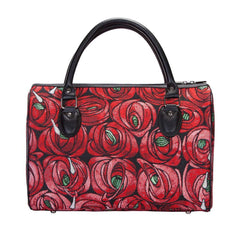 TRAV-RMTD | RENNIE MACKINTOSH ROSE AND TEARDROP TRAVEL BAG WEEKEND GYM HOLDALL - www.signareusa.com
