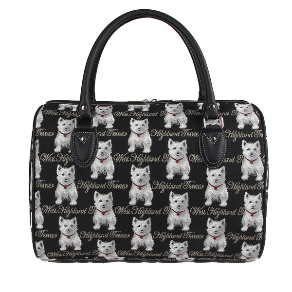 TRAV-WES | WESTIE DOG TRAVEL BAG WEEKEND GYM HOLDALL - www.signareusa.com