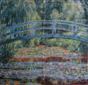"WH-CM-JB | CLAUDE MONET JAPANESE BRIDGE 55 X 53 "" INCH WALL HANGING TAPESTRY ART - www.signareusa.com"