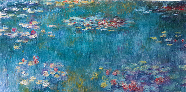 "WH-CM-WL | CLAUDE MONET WATER LILIES 58 X 27 "" INCH WALL HANGING TAPESTRY ART - www.signareusa.com"