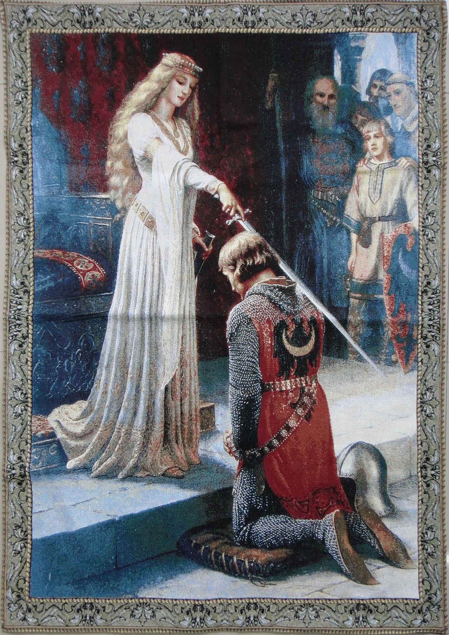 "WH-EB-AC | EDMUND BLAIR LEIGHTON ACCOLADE 39 X 55 "" INCH WALL HANGING TAPESTRY ART - www.signareusa.com"