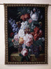 "WH-FGP | FLOWER AND GRAPES 40 X 54 "" INCH WALL HANGING TAPESTRY ART - www.signareusa.com"