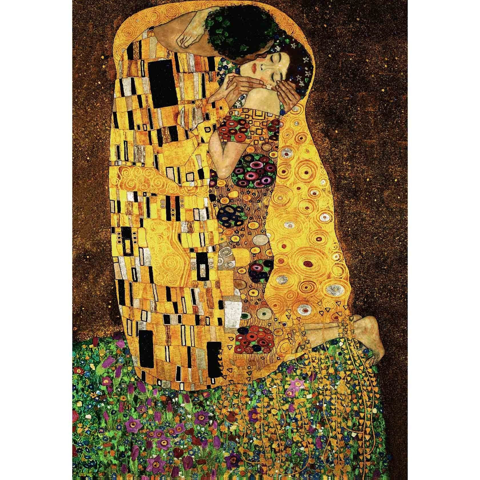 "WH-GK-KS | GUSTAV KLIMT THE KISS 35 X 45 "" INCH WALL HANGING TAPESTRY ART - www.signareusa.com"