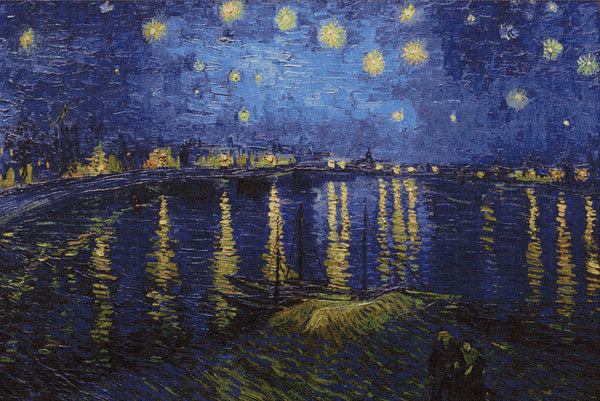 "WH-SNOR | VINCENT VAN GOGH STARRY NIGHT OVER THE RHONE 55 X 36 "" INCH WALL HANGING TAPESTRY ART - www.signareusa.com"