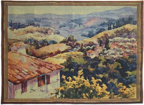 "WH-TOS | TOSCANA ITALIAN 54 X 39 "" INCH WALL HANGING TAPESTRY ART - www.signareusa.com"