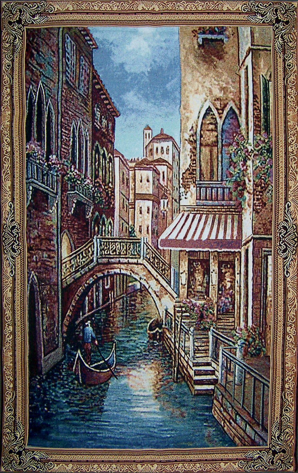 "WH-VENEICE | VENICE CANAL 34 X 55 "" INCH WALL HANGING TAPESTRY ART - www.signareusa.com"