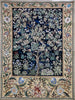 "WH-WM-TLBL-1 | WILLIAM MORRIS TREE OF LIFE BLUE 41 X 55 "" INCH WALL HANGING TAPESTRY ART - www.signareusa.com"