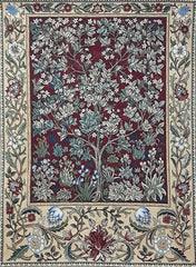 WH-WM-TLRD-1 | WILLIAM MORRIS TREE OF LIFE RED 41 X 55
