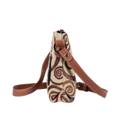 XB02-ART-GK-TREE | GUSTAV KLIMT TREE OF LIFE CROSS BODY BAG PURSE HANDBAG - www.signareusa.com