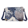 XB02-ART-JP-WAVE | HOKUSAI GREAT WAVE OFF KANAGAWA CROSS BODY BAG PURSE HANDBAG - www.signareusa.com