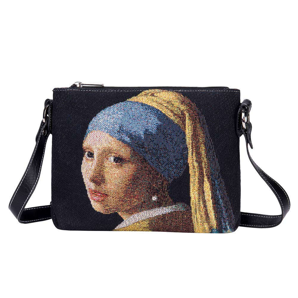 XB02-ART-JV-GIRL | VERMEER GIRL WITH A PEARL EARRING CROSS BODY BAG PURSE HANDBAG - www.signareusa.com