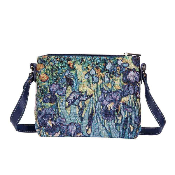 XB02-ART-VG-IRIS | VAN GOGH IRIS CROSS BODY BAG PURSE HANDBAG - www.signareusa.com