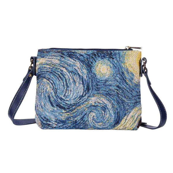 XB02-ART-VG-STAR | VAN GOGH STARRY NIGHT CROSS BODY BAG PURSE HANDBAG - www.signareusa.com