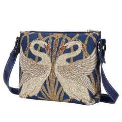 XB02-ART-WC-SWAN | WALTER CRANE SWAN CROSS BODY BAG PURSE HANDBAG - www.signareusa.com