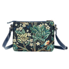XB02-ART-WM-TLBL | WILLIAM MORRIS TREE OF LIFE BLUE CROSS BODY BAG PURSE HANDBAG - www.signareusa.com