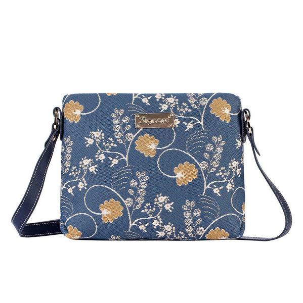 XB02-AUST | JANE AUSTEN BLUE CROSS BODY BAG PURSE HANDBAG - www.signareusa.com