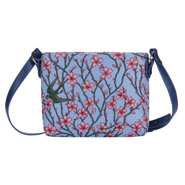 XB02-BLOS | ALMOND BLOSSOM AND SWALLOW CROSS BODY BAG PURSE HANDBAG - www.signareusa.com