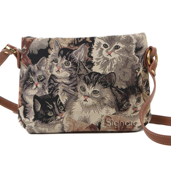 XB02-CAT | CAT CROSS BODY BAG PURSE HANDBAG - www.signareusa.com