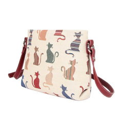 XB02-CHEKY | CHEEKY CAT CROSS BODY BAG PURSE HANDBAG - www.signareusa.com