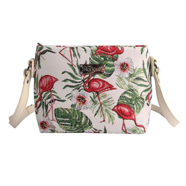 XB02-FLAM | FLAMINGO CROSS BODY BAG PURSE HANDBAG - www.signareusa.com