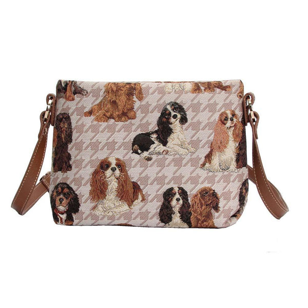 XB02-KGCS | KING CHARLES CAVALIER SPANIEL CROSS BODY BAG PURSE HANDBAG - www.signareusa.com