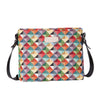 XB02-MIRI | MULTICOLOR TRIANGLE CROSS BODY BAG PURSE HANDBAG - www.signareusa.com