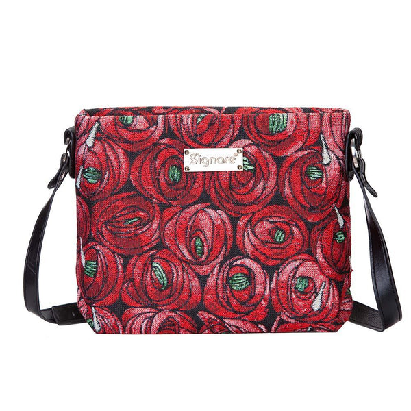 XB02-RMTD | RENNIE MACKINTOSH ROSE AND TEARDROP CROSS BODY BAG PURSE HANDBAG - www.signareusa.com