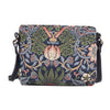 XB02-STBL | WILLIAM MORRIS STRAWBERRY THIEF BLUE CROSS BODY BAG PURSE HANDBAG - www.signareusa.com