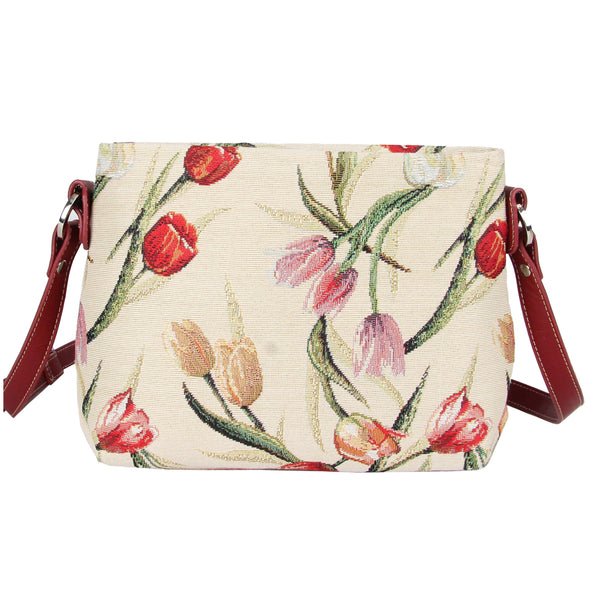 XB02-TULWT | TULIP WHITE CROSS BODY BAG PURSE HANDBAG - www.signareusa.com