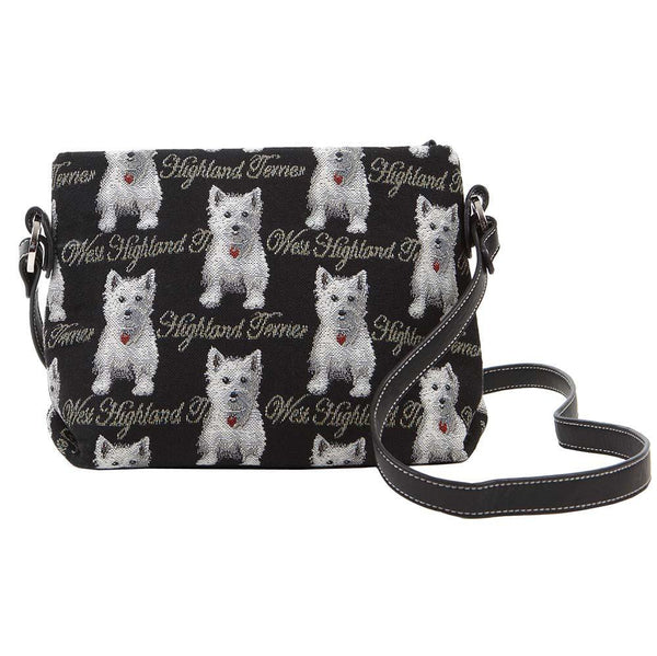 XB02-WES | WESTIE DOG CROSS BODY BAG PURSE HANDBAG - www.signareusa.com
