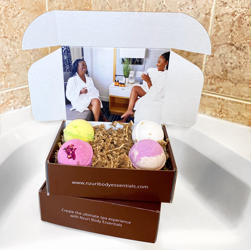 Luxury Bath Bombs Box of 4